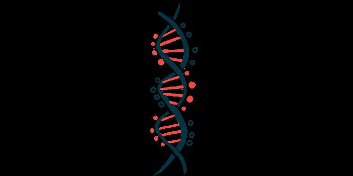 new vEDS gene mutation/Ehlers-Danlos News/DNA vertical illustration