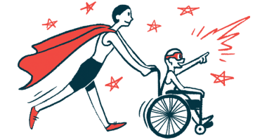 rare disease clinical trial participants | Ehlers Danlos News | Illustration of woman in cape pushing child in wheelchair